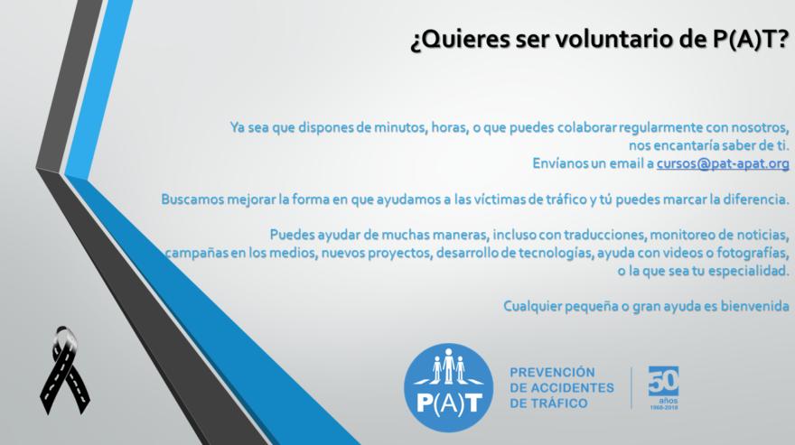 ¿Quieres ser voluntario de P(A)T?