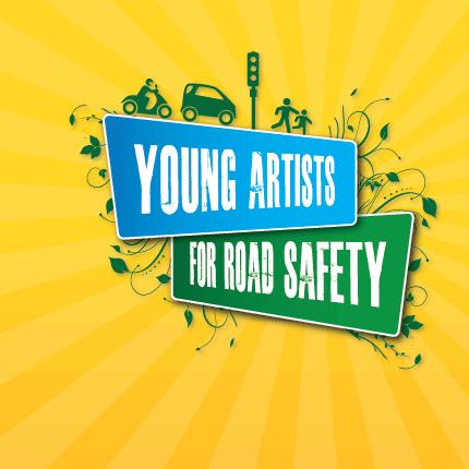 Diseña un cartel de seguridad vial para Europa